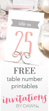 picture about Free Printable Table Numbers known as Printable Wedding day Desk Quantities Invites as a result of Sunrise