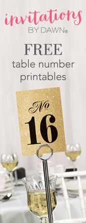 Selective image inside free printable wedding table numbers