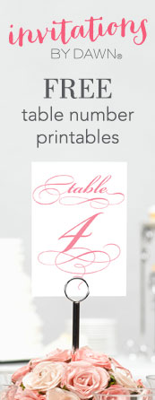 picture relating to Free Printable Table Numbers referred to as Printable Wedding ceremony Desk Quantities Invites through Sunrise