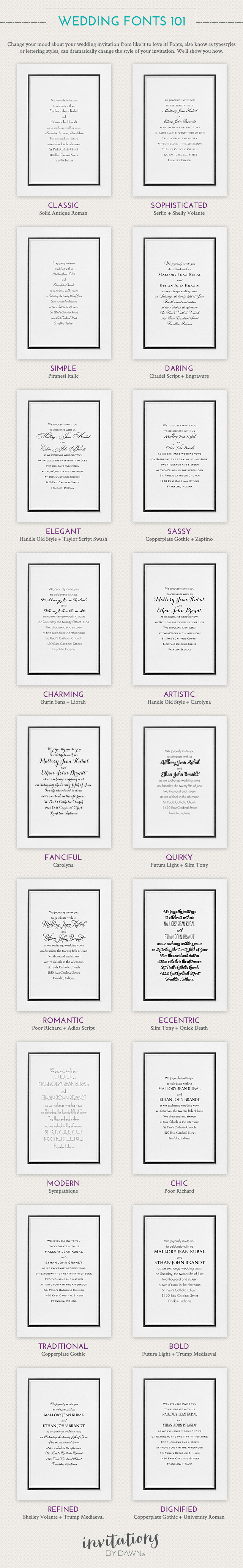 Wedding Fonts 101