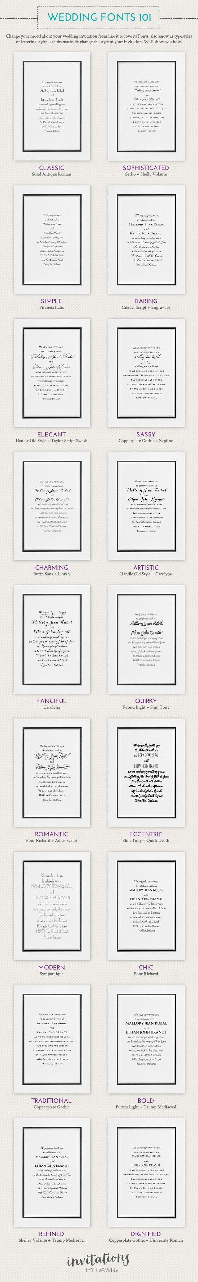 Wedding Fonts 101