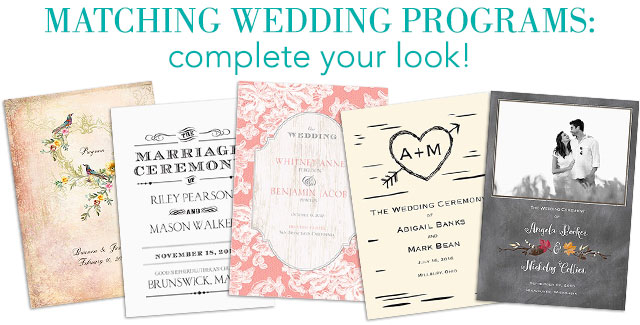 shop programs - Addressing Wedding Invitations Etiquette