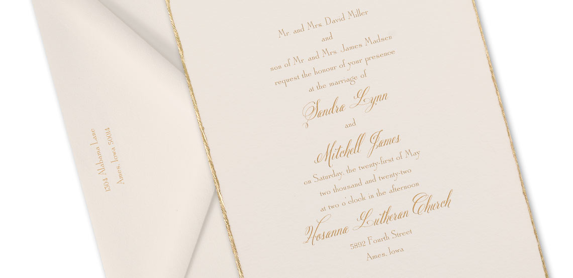 how to word your wedding invitations both parents inviting