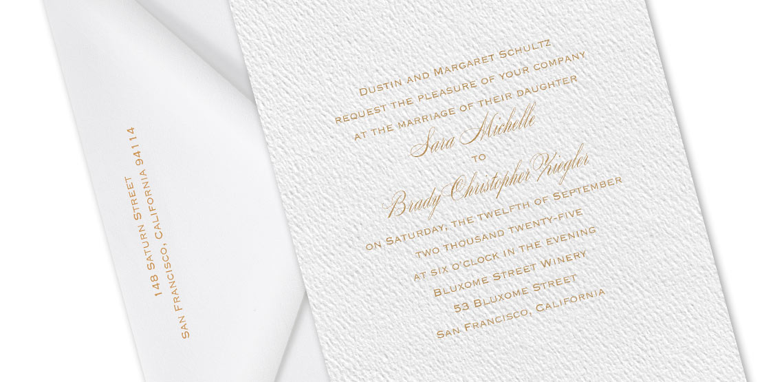 How to Word Your Wedding Invitations – Bride\'s Parents Inviting ...