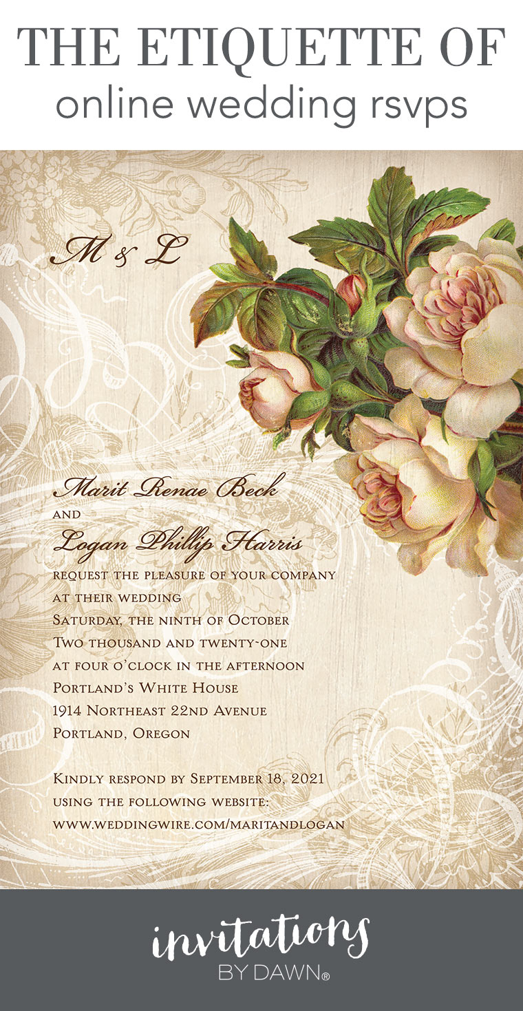 Online Wedding Rsvps Etiquette Invitations By Dawn