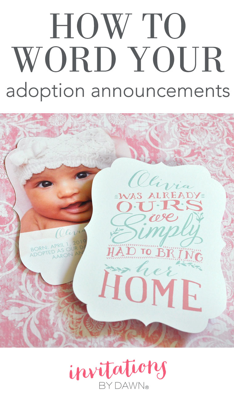How to Word Your Adoption Announcements
