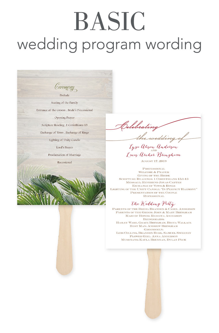 how to word your wedding programs invitations by dawn