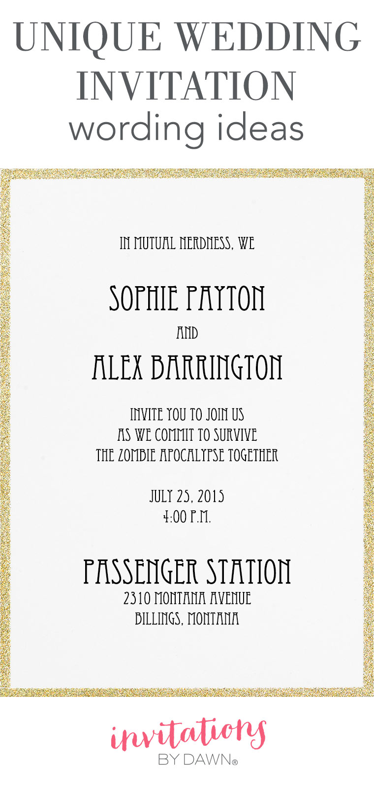 simple wedding invitation wording