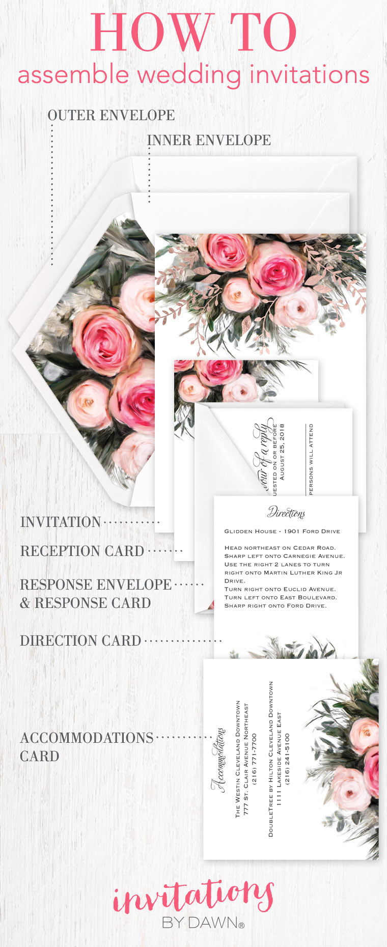Assembling Wedding Invitations | Invitations By Dawn