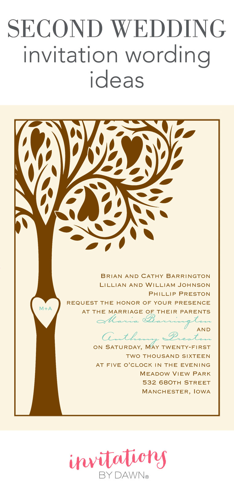 Wonderful Second Wedding Invitation Wording