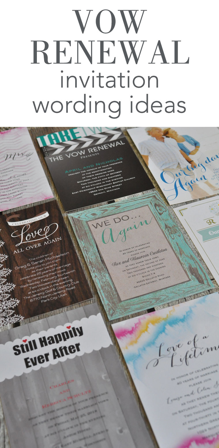 vow renewal invitation wording invitations by dawn