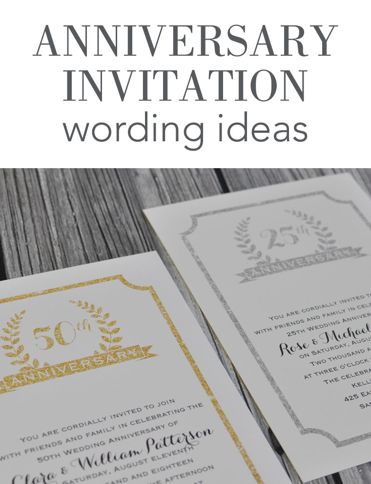 Wedding Anniversary Invitation Wording | Invitations By Dawn
