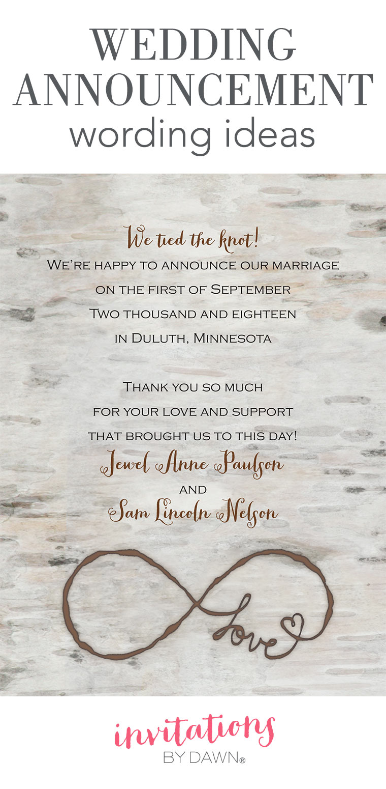 Wedding Announcement Wording  Funeral Announcement Sample
