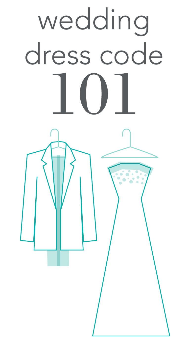 Wedding dress code 101 invitations by dawn stopboris