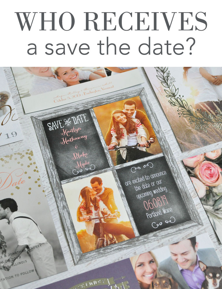 Who receives a save the date