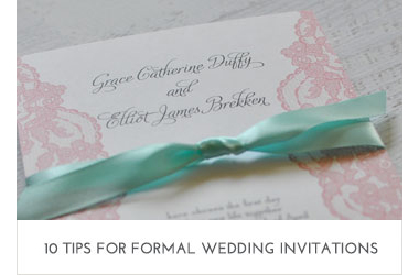 10 Tips for Formal Invitations