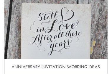 Anniversary Wording Ideas