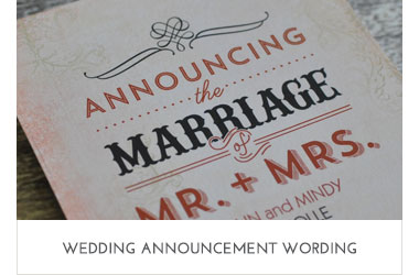 Wedding Announcement Wording