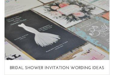 Bridal Shower Wording Ideas