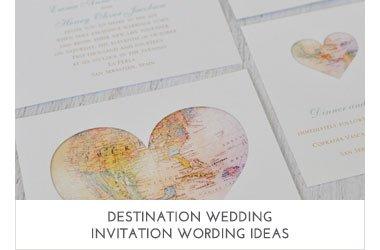 Destination Wedding Wording Ideas