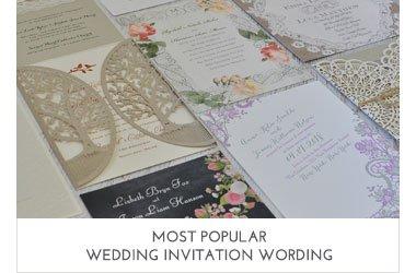 Popular Wedding Invitation Wording