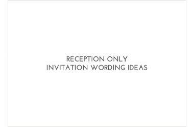 Reception Wording Ideas