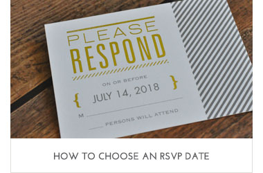 Hos to Choose an RSVP Date