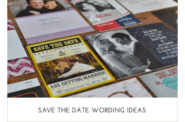 Save the Date Wording Ideas