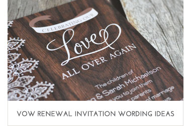 Vow Renewal Wording Ideas