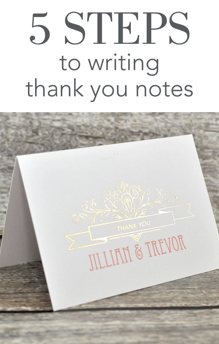 Proper Etiquette For Sending Thank You Notes For Wedding Gifts : steps to writing thank you notes wedding thank you