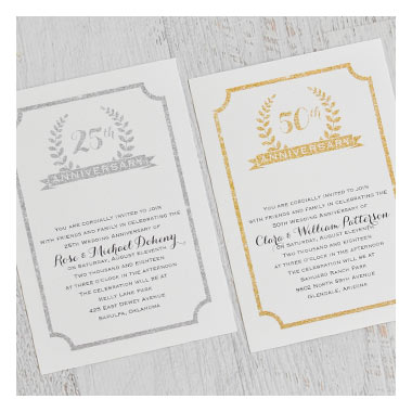 Fabulous Deals on Anniversary Party Invitations