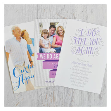 Fabulous Deals on Vow Renewal Invitations