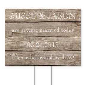 Wedding Personalized Yard Signs
