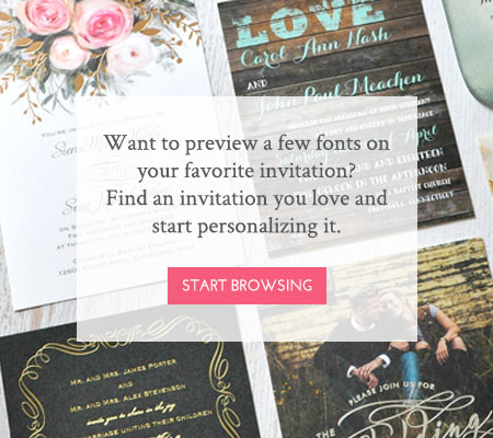Wedding Invitation Fonts Bottom Hero