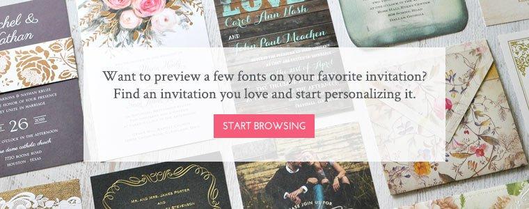 Wedding Invitation Fonts Bottom Hero