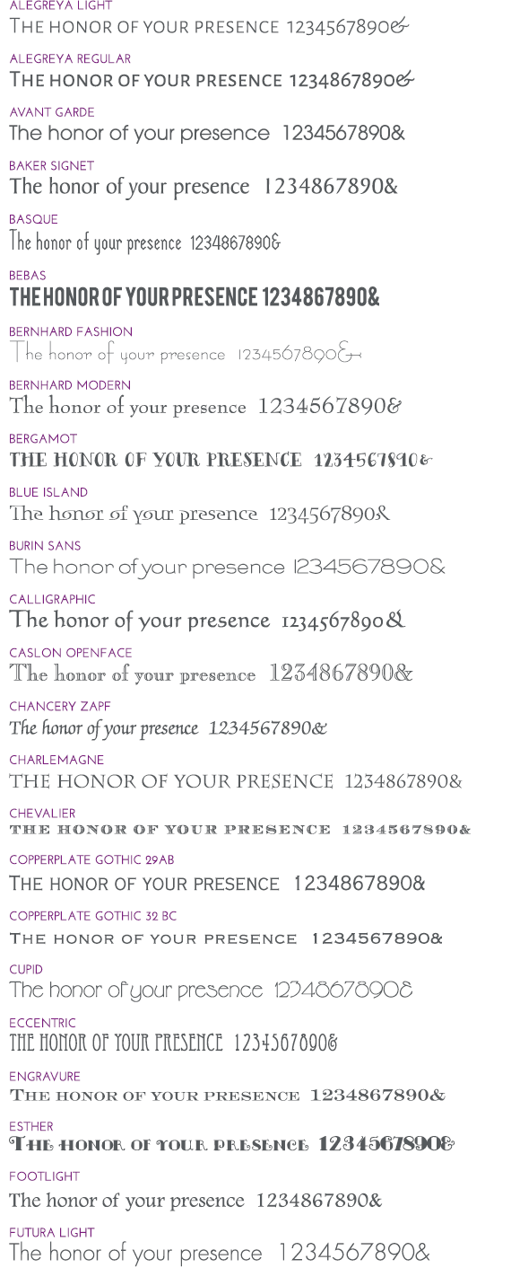 Wedding Invitation Fonts.Wedding Invitation Fonts Invitations By Dawn