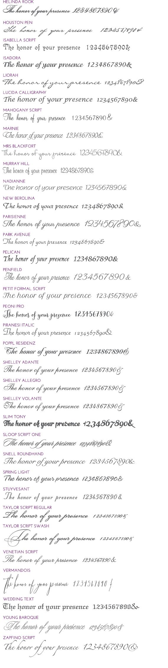 Script Fonts 2