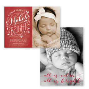 Christmas Birth Announcements
