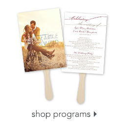 Decor back wedding programs wedding guest books and pens wedding