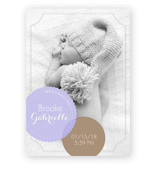 Shop Birth Announcements