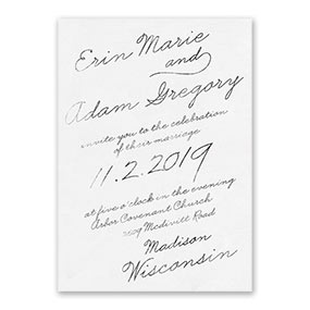 Exquisite Penmanship Invitation Sample 1