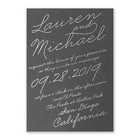Exquisite Penmanship Invitation Sample 3