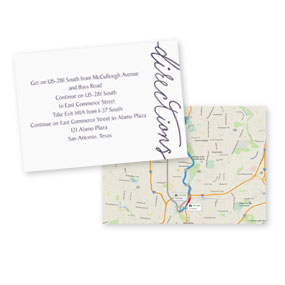 Wedding Map Cards