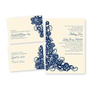 3 for 1 Wedding Invitations