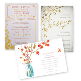 Autumn and Fall Wedding Invitations