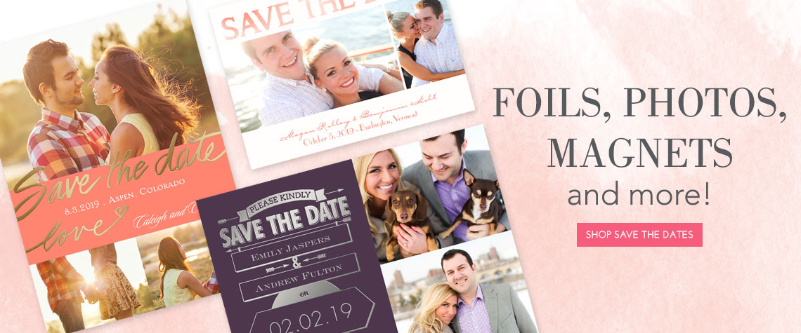Shop Invitations and Save the Dates