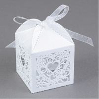 Lacy Heart Favor Boxes