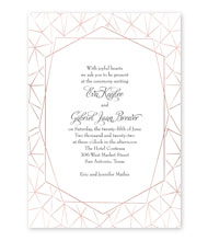 Clean Lines - Foil Invitation