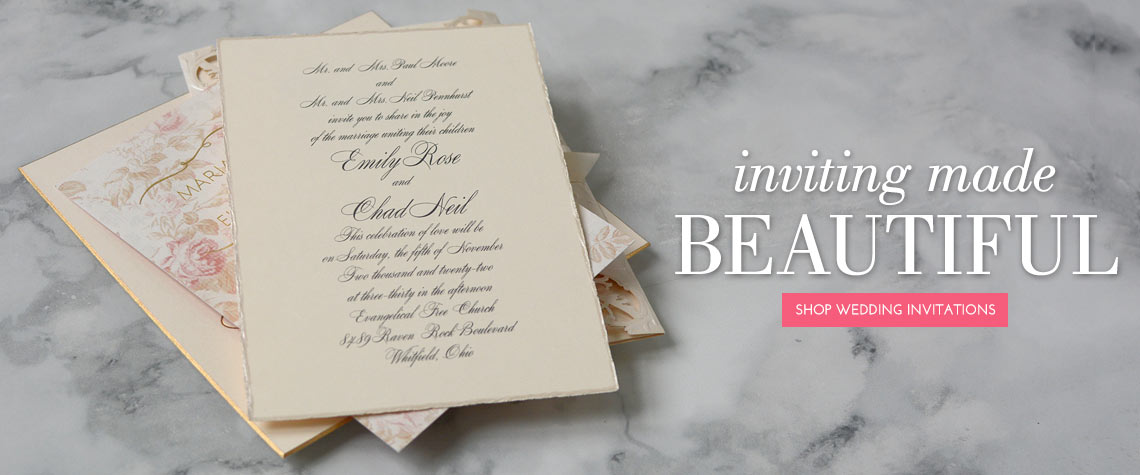 Custom Wedding Invitations by Dawn