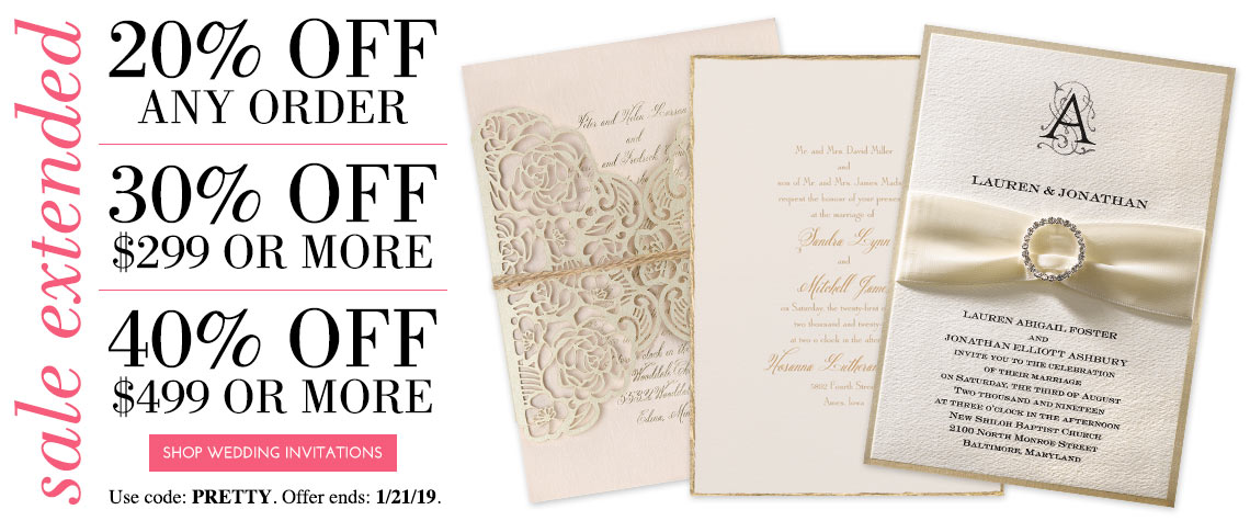 Custom Wedding Invitations by Dawn